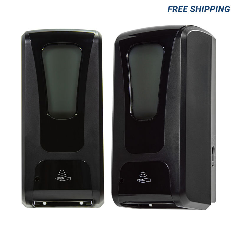 Black Wall Mounted Automatic Hand Sanitizer Dispenser