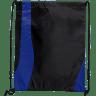 Black - Blue - Drawstring Bags