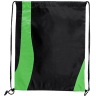 Black - Lime Green - Drawstring Tote Bags