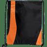 Black - Orange - Custom Drawstring Bags