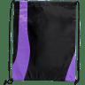 Black - Purple - Custom Drawstring Bags
