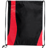 Black - Red - Custom Drawstring Bags