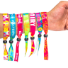 01Fluorescent Neon Full Color Cloth Wristbands - Wristbands