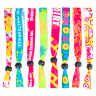 02Fluorescent Neon Full Color Cloth Wristbands - Wristbands