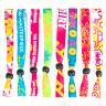 02Fluorescent Neon Full Color Cloth Wristbands - Fluorescent