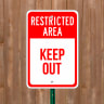 Restricted Area - Parking Signs