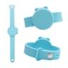01 Adjustable Hand Sanitizer Dispenser Silicone Wristbands_ Light Blue -