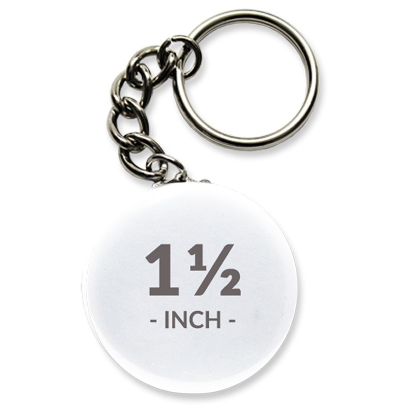 1 1/2 Inch Round Key Chain Buttons