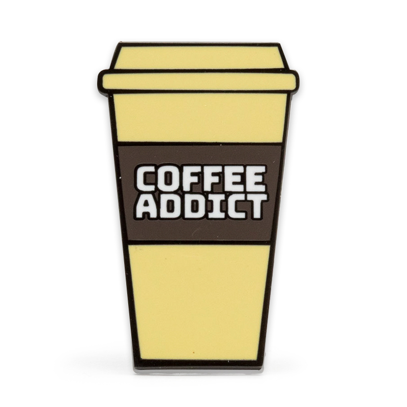 Coffee Addict Stock Lapel Pins