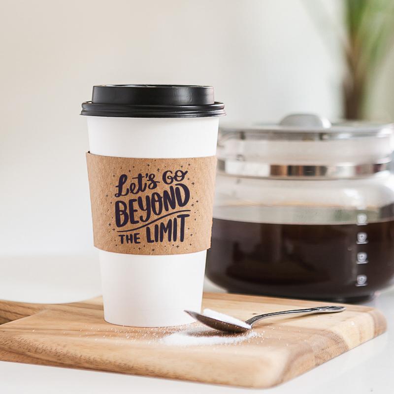 Custom Premium Embossed Natural Kraft Cup Sleeves