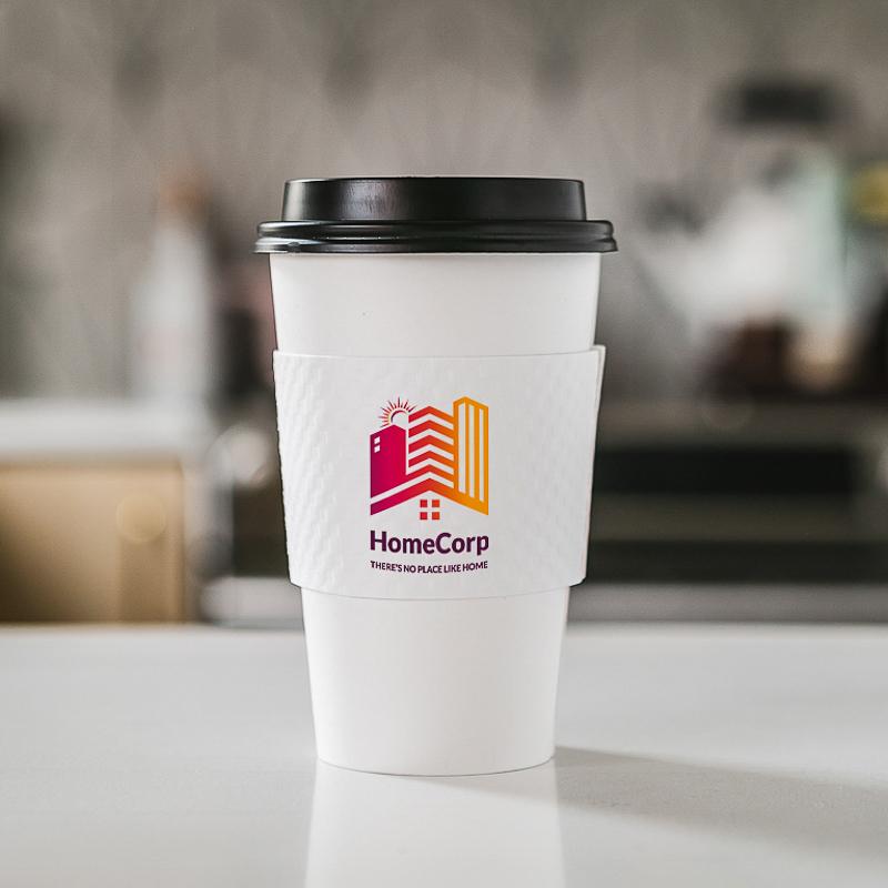 Custom Premium Embossed White Cup Sleeves