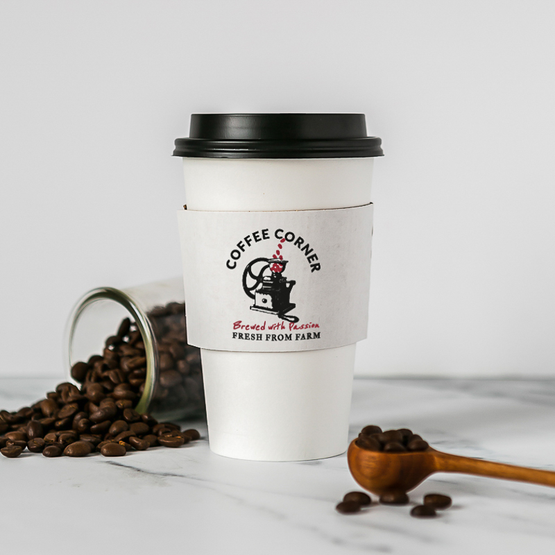 Custom Traditional White Cup Sleeves