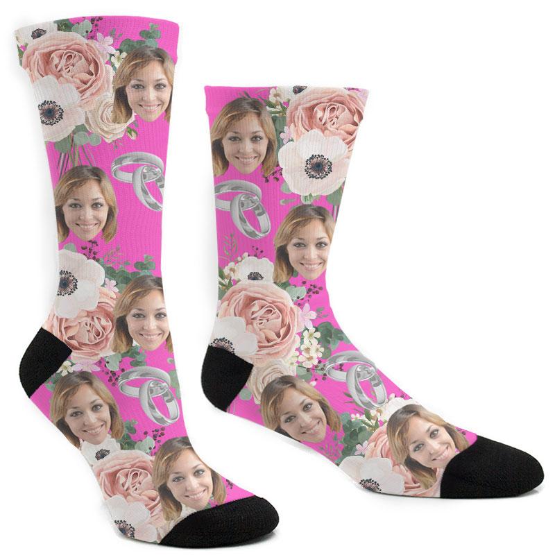 Custom Wedding Flower Socks