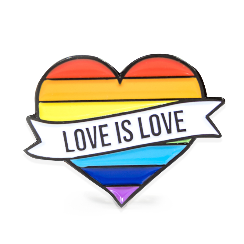 Love Is Love Pride Stock Lapel Pins