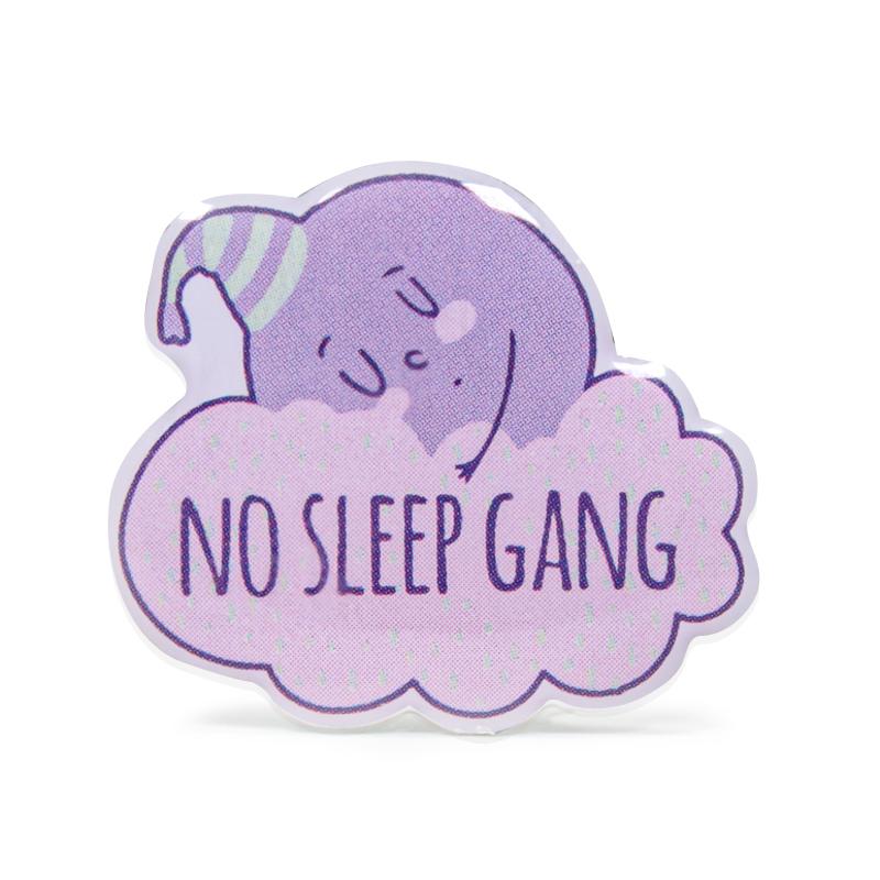 No Sleep Gang Stock Lapel Pins