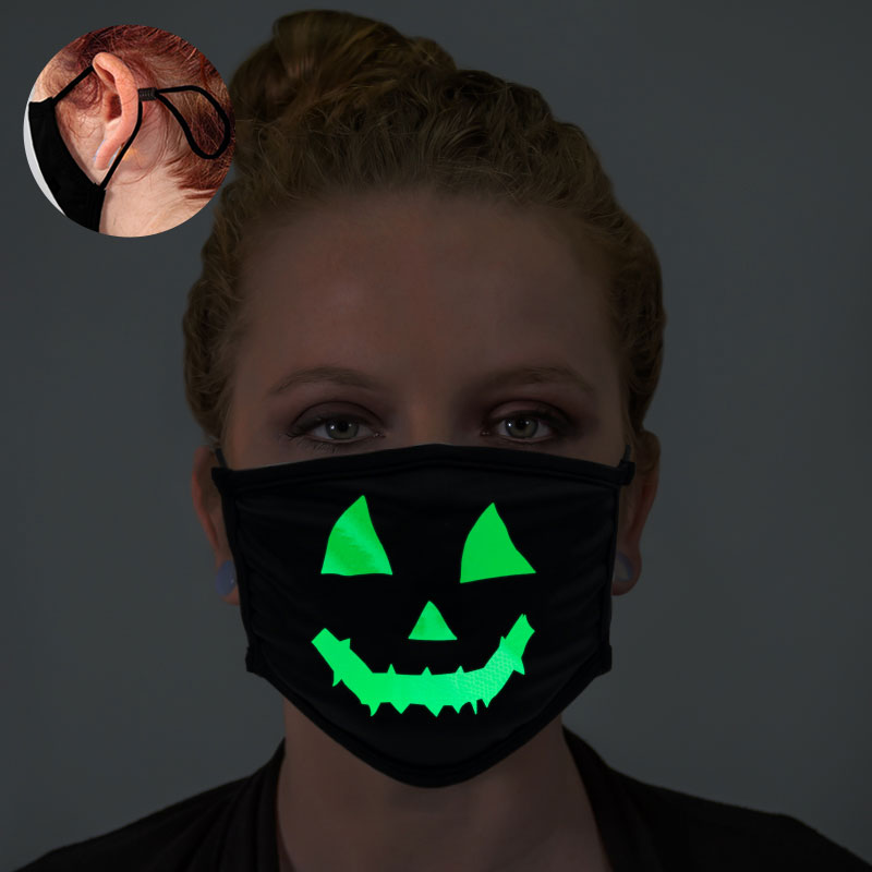Pumpkin Face Glow In The Dark Face Mask