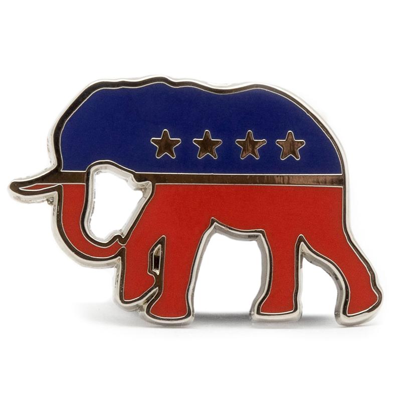 Republican Party Stock Lapel Pins