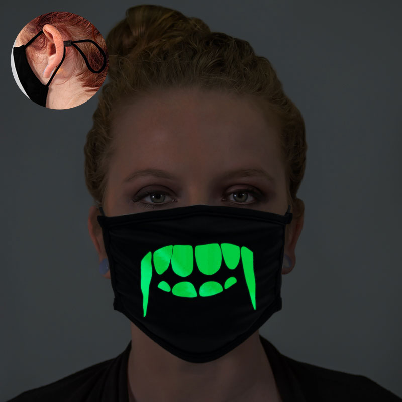 Vampire Teeth Glow In The Dark Face Mask