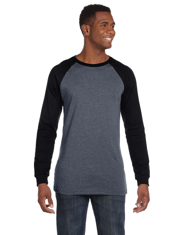 Bella Mens Jersey Long-Sleeve Baseball T-Shirt