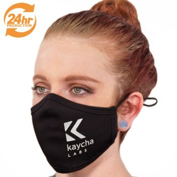 Custom RUSH Production Adjustable Fabric Face Masks